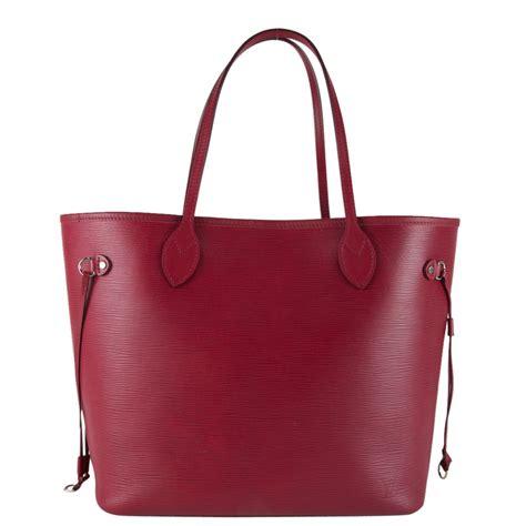 Louis Vuitton Leather louis vuitton epi leather neverfull mm my luxury bargain