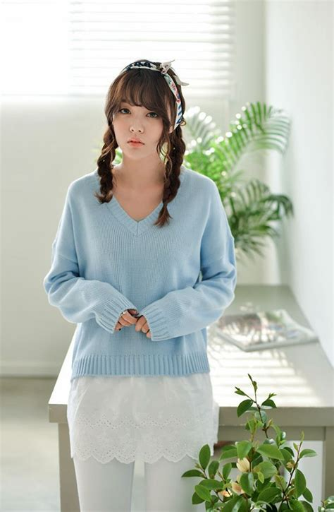 Sale Cardigan Korea korea 2014 autumn sale sweater sweet chic color v neck sleeve knitted