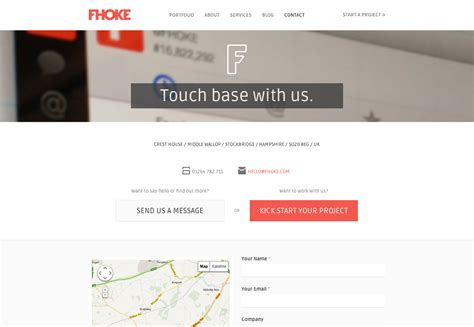 contact page designs to boost user experience