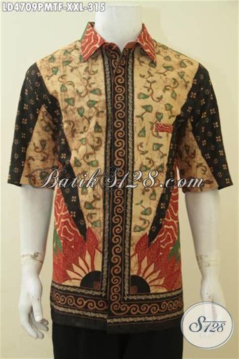 Hem Batik Pria Katun Premium Ukuran Jumbo Hrb 055 hem batik lengan pendek premium motif klasik busana batik