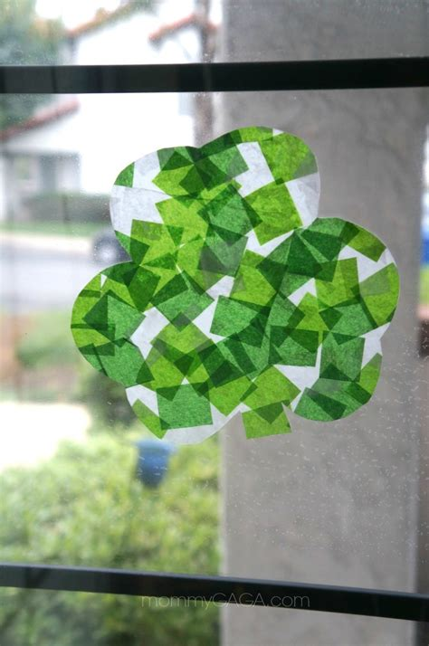 st patricks crafts for st s day crafts shamrock stained glass with