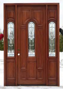 Cheap Exterior Wood Doors Front Doors With Beveled Glass