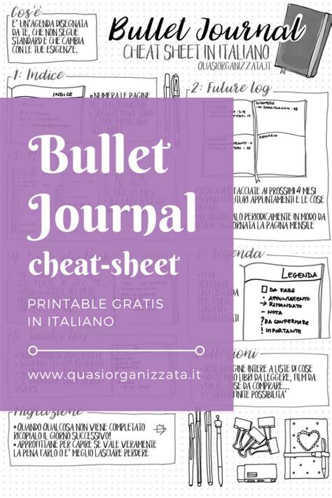 bullet journal bullet journal cheat sheet pdf in italiano gratis per te