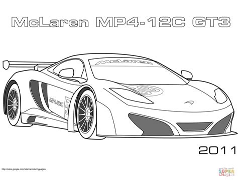 Coloriage 2011 Mclaren Mp4 12c Gt3 Coloriages 224