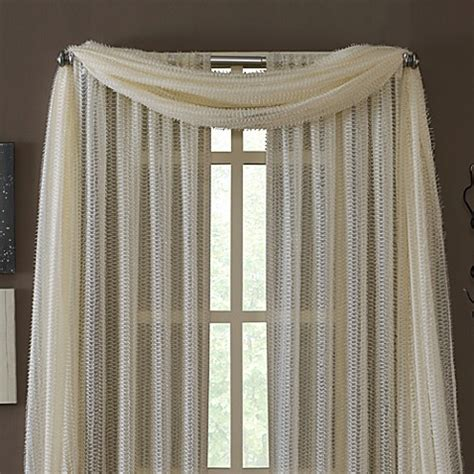 how to drape a scarf valance buy kas 174 dash ivory sheer scarf valance from bed bath beyond