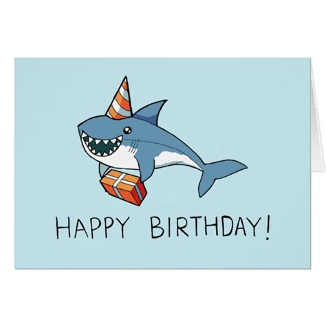 Baby Shark Happy Birthday | happy birthday shark card zazzle ca