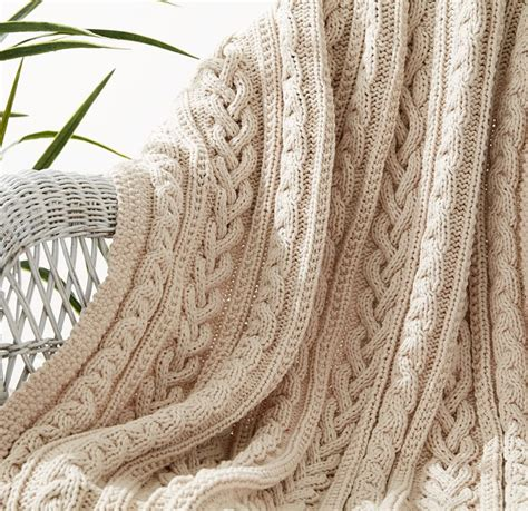 Free Knitted Blankets And Throws Patterns by Cable Afghan Knitting Patterns In The Loop Knitting