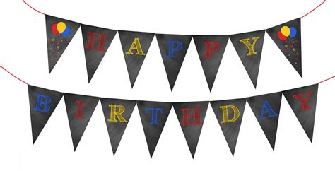 printable yellow birthday banner chalkboard birthday party designs free printables