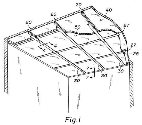 Direct Mount Ceiling by Patent Us6205733 Direct Mount Ceiling Panel Grid System
