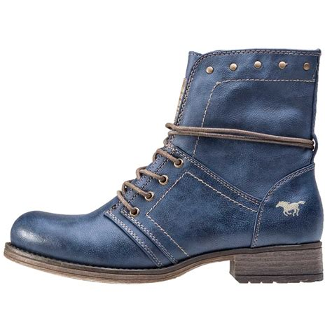 mustang ankle boot womens ankle boots in blue
