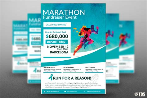 Freebies Marathon Fundraiser Free Flyer Psd Templates Store Free Fundraising Brochure Templates