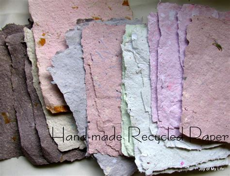 Recycled Handmade Paper - the of my and other things craft recycled