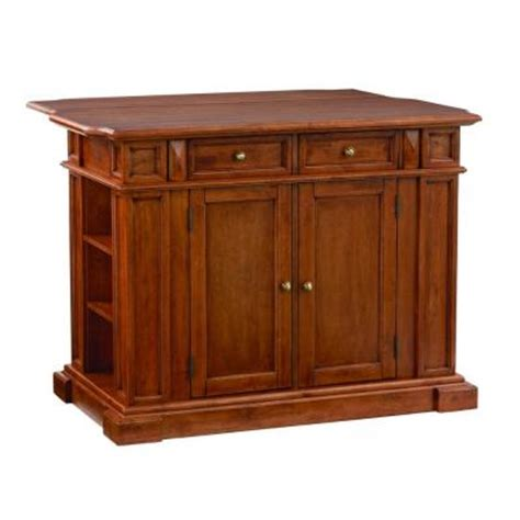 island for kitchen home depot home styles distressed oak drop leaf kitchen island 5004