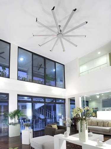 large ceiling fans for high ceilings can move enough air to handle large rooms with high