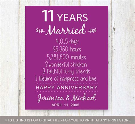 Wedding Anniversary Gift Year 11 by Wedding Gift 11 Years Imbusy For