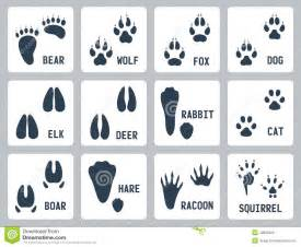 animal tracks vector icons stock vector image 42806322