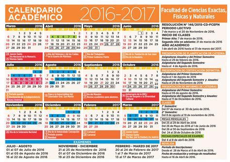 Calendario Academico Facultad De Ciencias Exactas F 237 Sicas Y Naturales