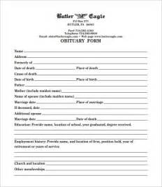 Free Obituary Program Template free obituary templates 13 free word excel pdf format