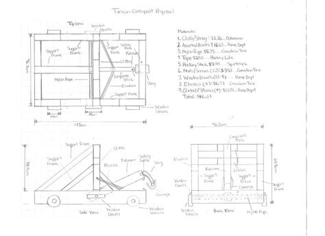 build blueprints trebuchet catapult blueprints imgkid com the image