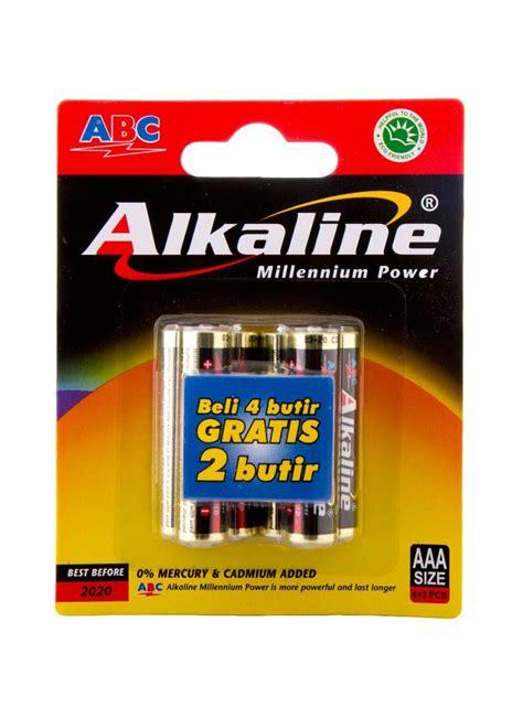 Batere Abc Aaa Power abc battery alkaline aaa lr 03 4 s millennium pwr pck
