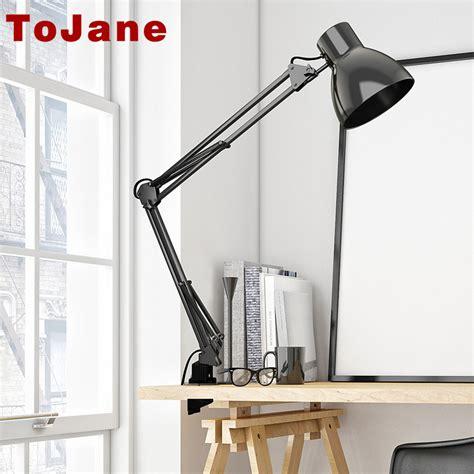 swing arm reading ls tojane tg801 long swing arm desk l led table l