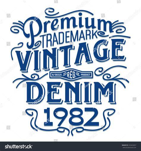 t shirt typography font vintage typography tshirt illustration denim retro stock