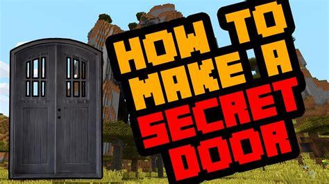 simple secret door  minecraft survival