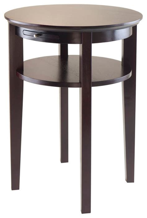 Espresso End Tables by Winsome Wood Amelia End Table W Pull Out Tray In