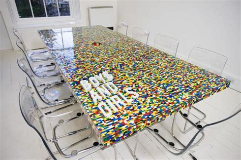 Cool Meeting Table Cool Conference Room Table Made From Lego Blocks Freshome