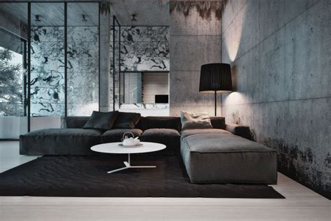 home interior design concepts 23 glamorous interior designs with concrete walls