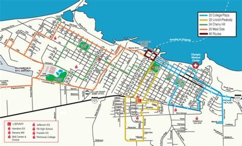 port angeles map clallam transit system transportation port angeles
