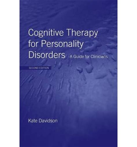 cognitive remediation for psychological disorders therapist guide treatments that work books cognitive therapy for personality disorders kate