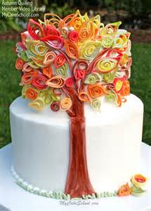 quilling with fondant video an autumn cake my cake