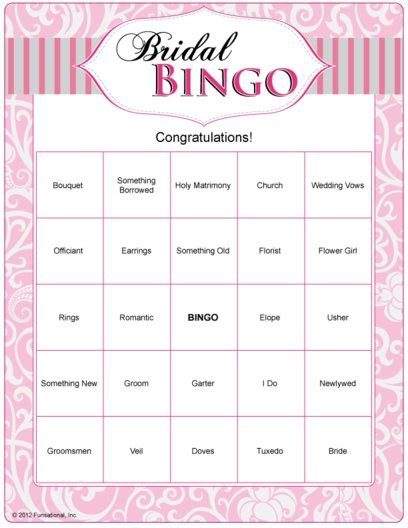 Baby Shower Bingo Generator Free - bridal shower bingo cards free printable search results calendar 2015
