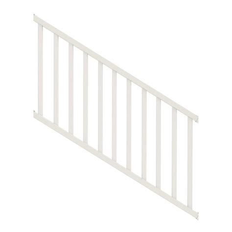 veranda select 3 ft white vinyl stair rail kit with