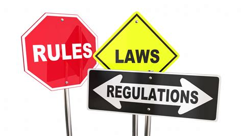and regulations laws regulations stop yield road signs 3 d animation
