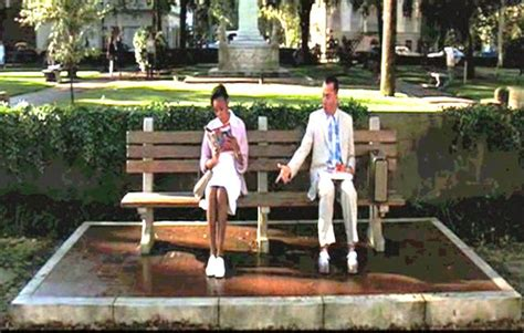 forrest gump park bench scene forrest gump quotes about shoes quotesgram