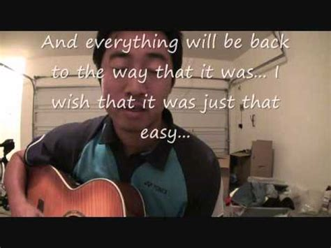 lifehouse somewhere in between lifehouse somewhere in between cover w lyrics youtube