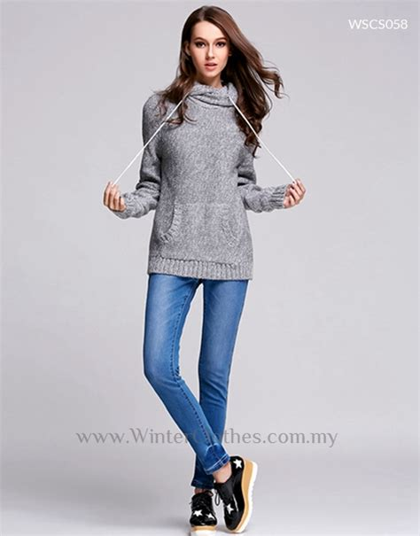 Hooded Drawstring Sweater drawstring hooded winter sweater winter clothes