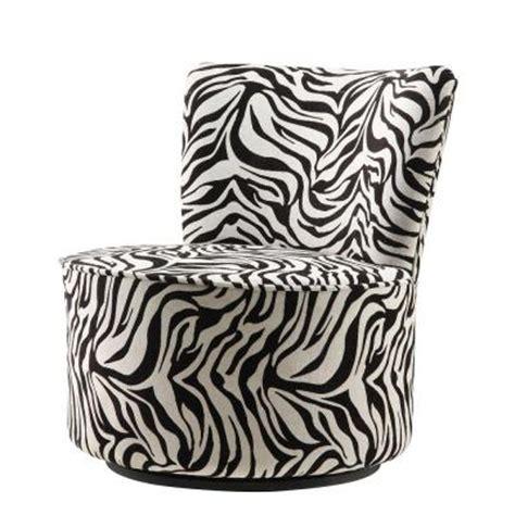 zebra pattern chair homesullivan zebra stripe patterned swivel round chair