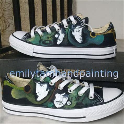 beatles sneakers the beatles converse sneakers low top from emilytamhandpainti