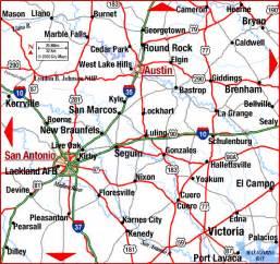 map of san antonio and surrounding cities road map of san antonio
