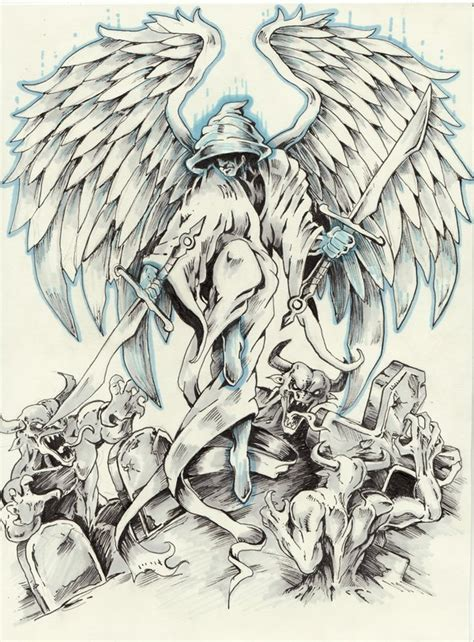 angel tattoo comission by samurai30 on deviantart