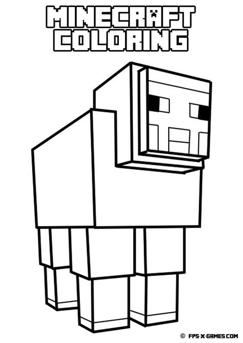minecraft coloring pages foldable printable minecraft coloring sheep minecraft