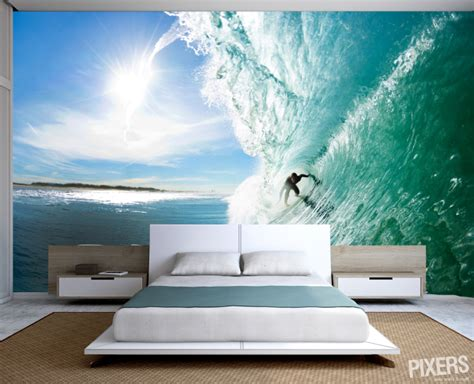 surf bedroom fresh summer decorating trend surf themed wall murals in