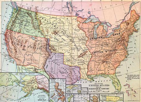 western map pushing the americans westward