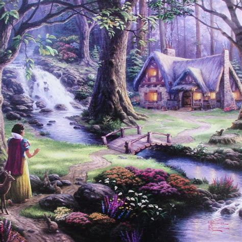 Snow White Discovers The Cottage by Kinkade Snow White Discovers The Cottage Gallery