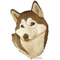 wolf head intarsia pattern workshop supply