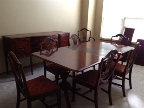 duncan phyfe dining room set 1966 duncan phyfe dining room set with 6 chairs buffet
