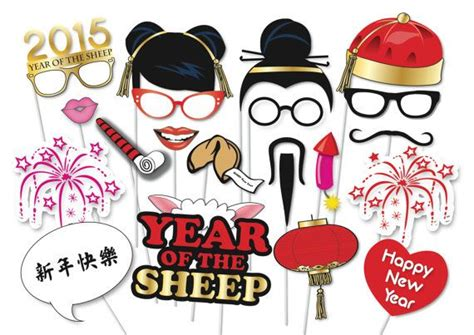 chinese new year photo booth props printable 1000 images about cny year of monkey on pinterest mid
